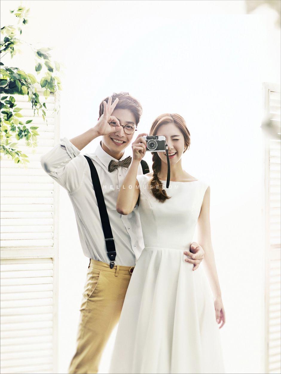 Korean wedding decoration ideas  natural and romantic pre wedding photo shoot  album  Pinterest
