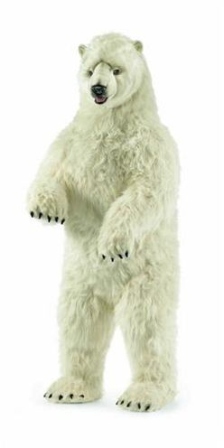 Hansa Polar Bear Life Size Standing Up 58 Arctic Animals Bear