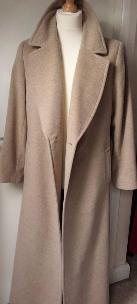 Windsmoor Luxury Coat Wool Angora Overcoat BoyFriend Over-size Womens Ladies 16