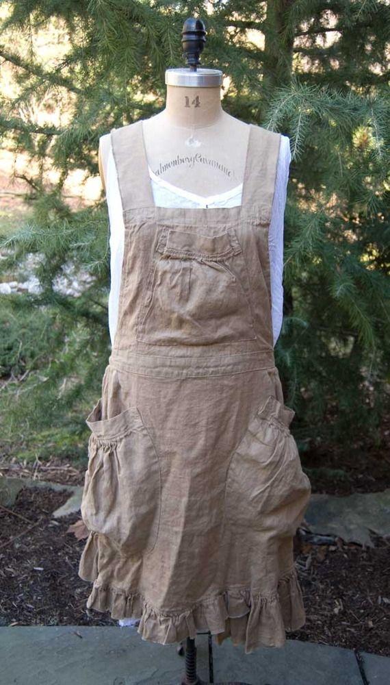 Magnolia Pearl Linen Apron Dress $248 — Society Hill Designs