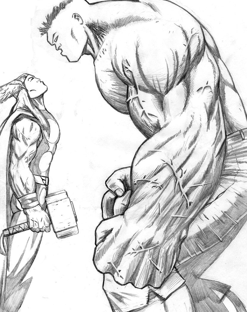 Thor Coloring Pages hulk vs. thor coloring pages – Kids Coloring ...