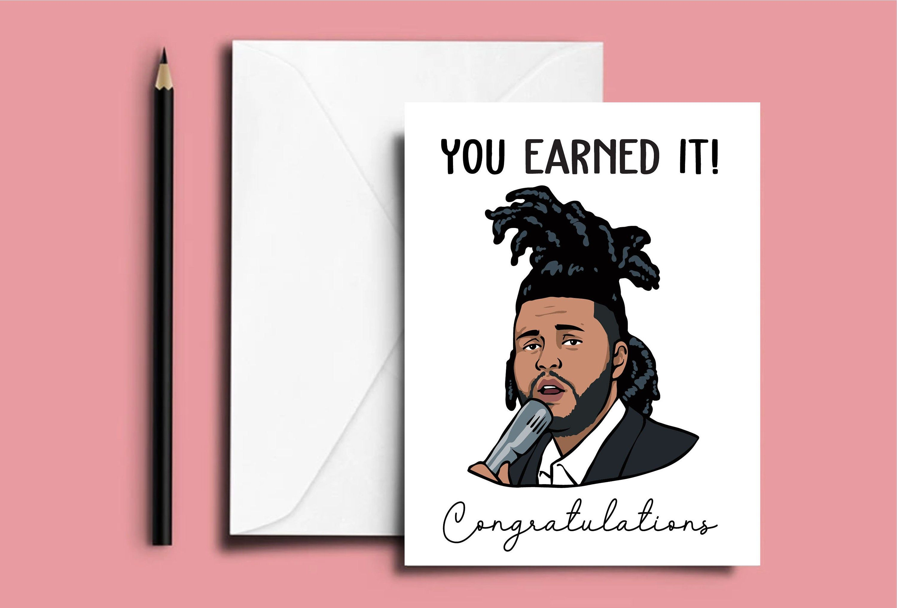 The Weeknd Congratulations Card Funny Congratulations The Weeknd Card Celebrity Greeting Cards Ovoxo Xo Merch The Weeknd Fans Congratulations Card Cute Birthday Cards Etsy Cards
