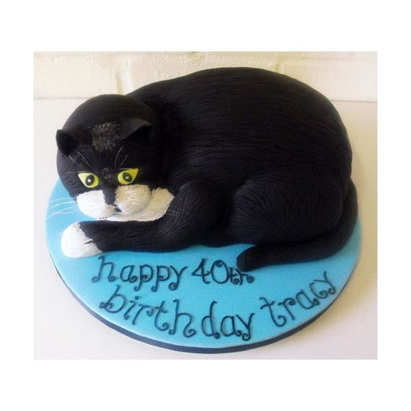 Cat Birthday Cake shaped as a Cat for 40th Birthday Celebration by