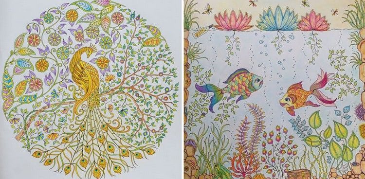 Relive Your Childhood Again With These Whimsical Coloring Books For Adults By UK Illustrator And Artist Johanna Basford Her