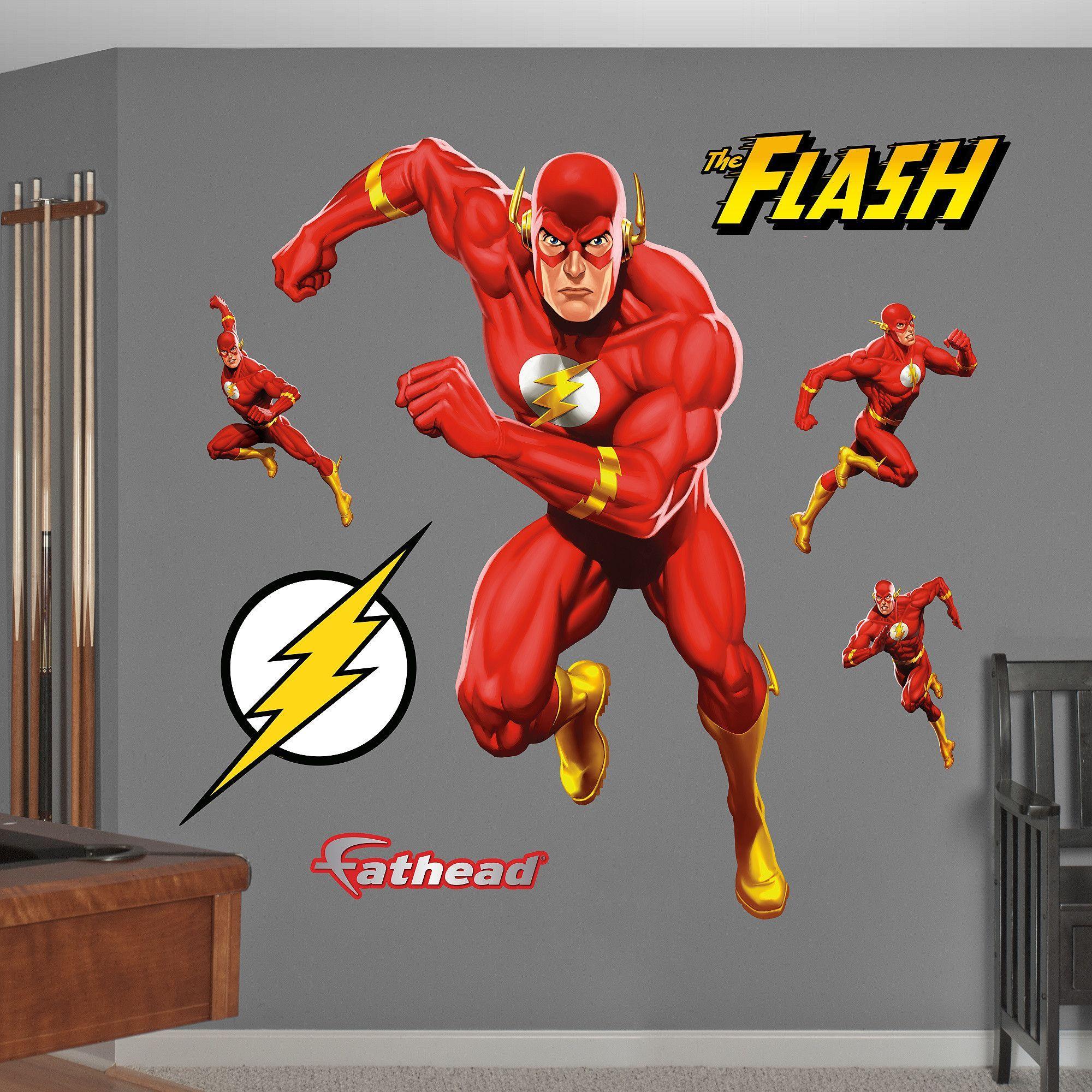 Fathead Flash Action Fathead Realbig Wall Decal Boy Room Wall Decor Superhero Wall Decals The Flash