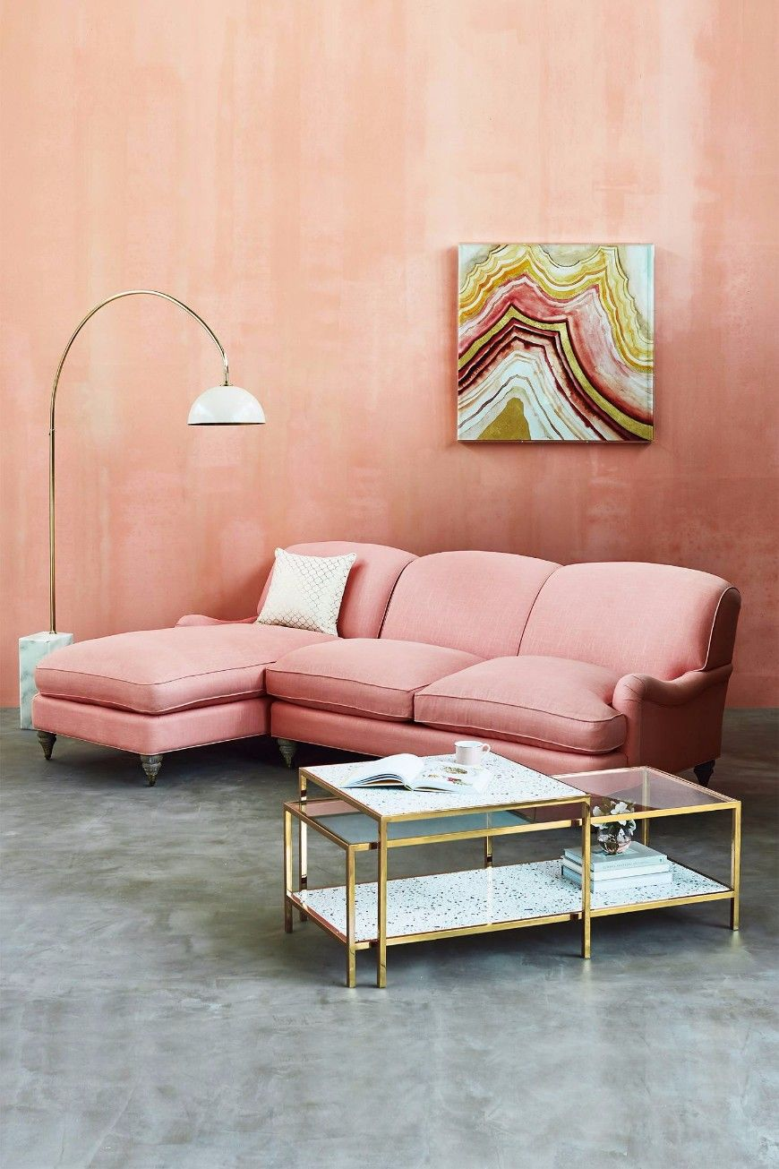 13 Millennial Pink Sofas For A Chic Living Room Set Modern