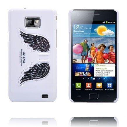 Enkelin Siivet - Standi (Valkoinen) Samsung Galaxy S2 Suojakuori