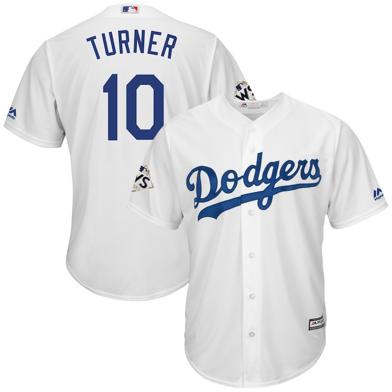 Justin Turner Los Angeles Dodgers Majestic 2017 World Series Bound Cool Base  Player Jersey – White 456e093a1
