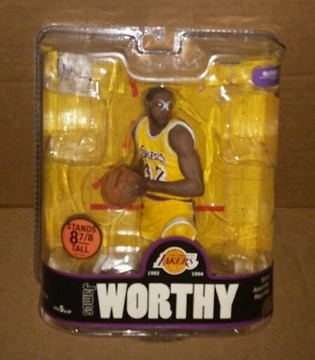 MCFARLANE NBA LEGENDS 3 JAMES WORTHY YELLOW JERSEY LOS ANGELES LAKERS