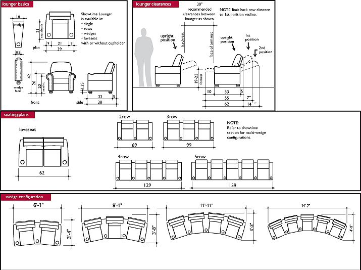 Home Theater Seating Dimensions Google Search