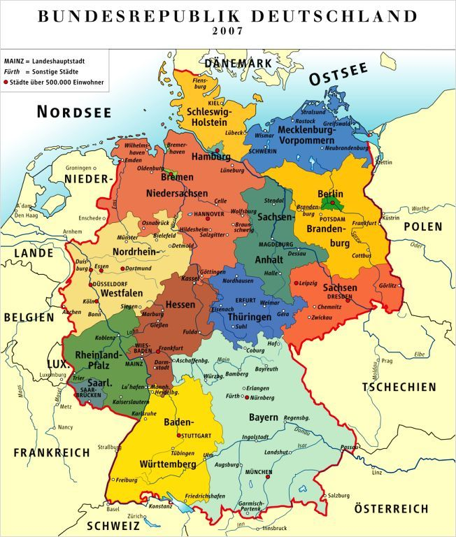 map of the 16 states states Axel Brosi lived in Siegen Nordrhein