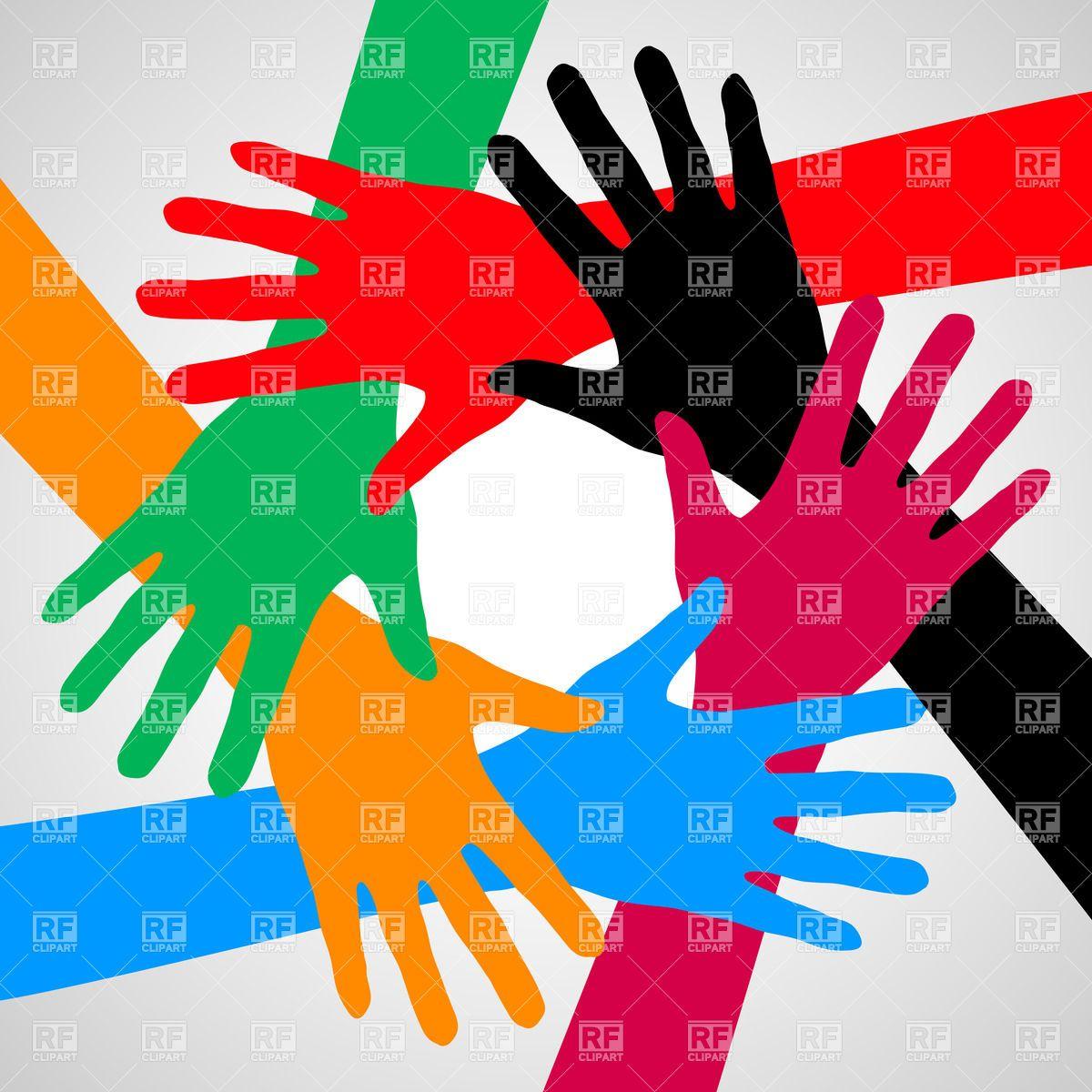 Team hands friendship, teamwork and partnership symbol