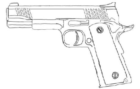 gun Coloring Pages | embroidery | Pinterest | Páginas para colorear ...