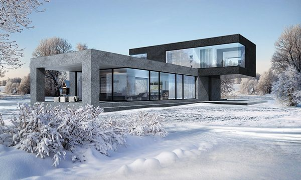 The Exterior Of An Apartment House On Behance NEWHOUSESOLUTIONS - Minecraft aubergewohnliche hauser