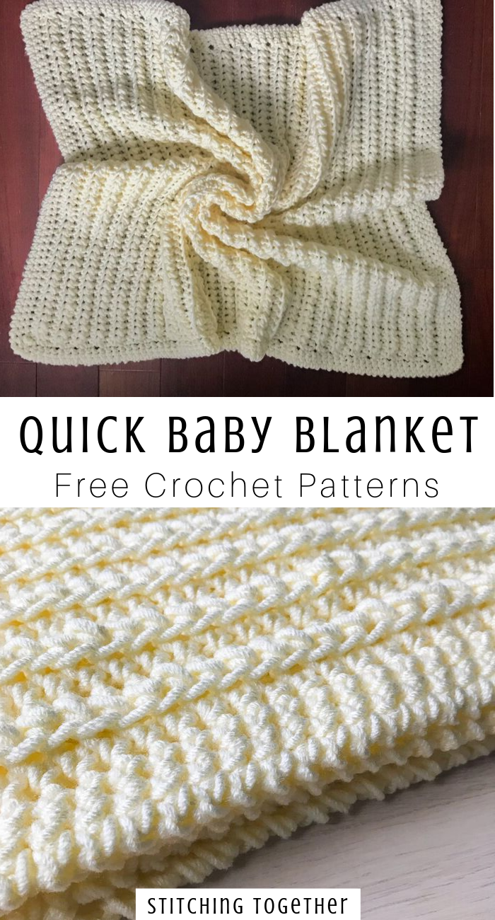 Squishy and Chunky Crochet Baby Blanket | Stitching Together