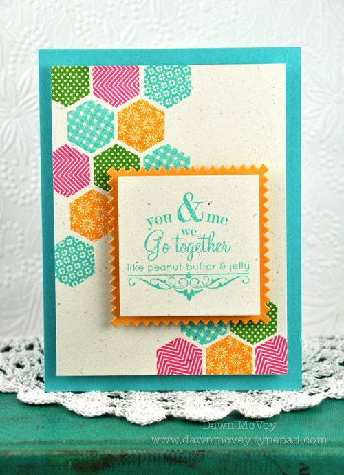Introducing We Go Together Hexagon Cards Papertrey Ink Cards Paper Crafts Cards