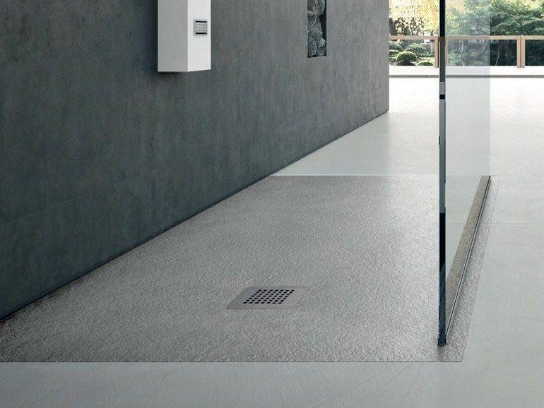 Piatto doccia antiscivolo filo pavimento rettangolare in materiale ...