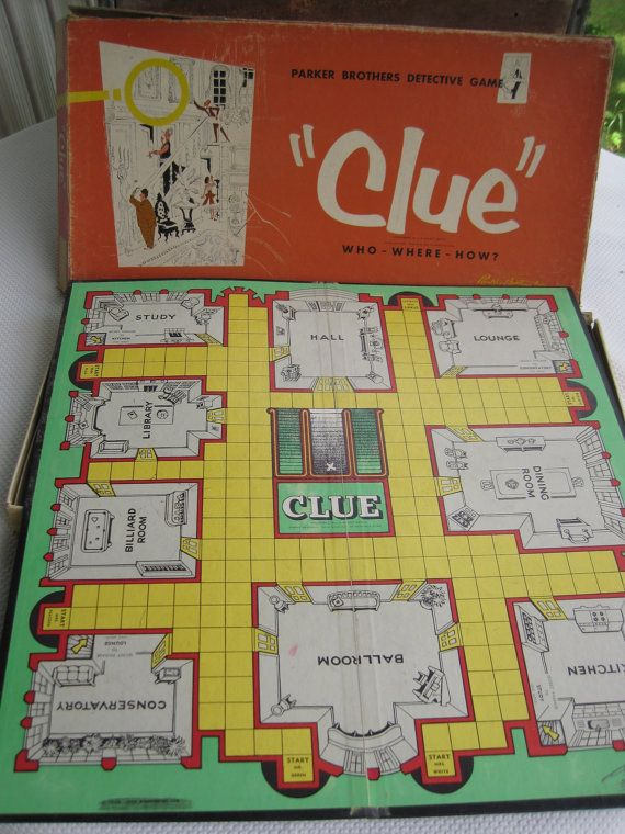 vintage murder mystery fun we used to have this exact game board love this game kids nowadays. Black Bedroom Furniture Sets. Home Design Ideas