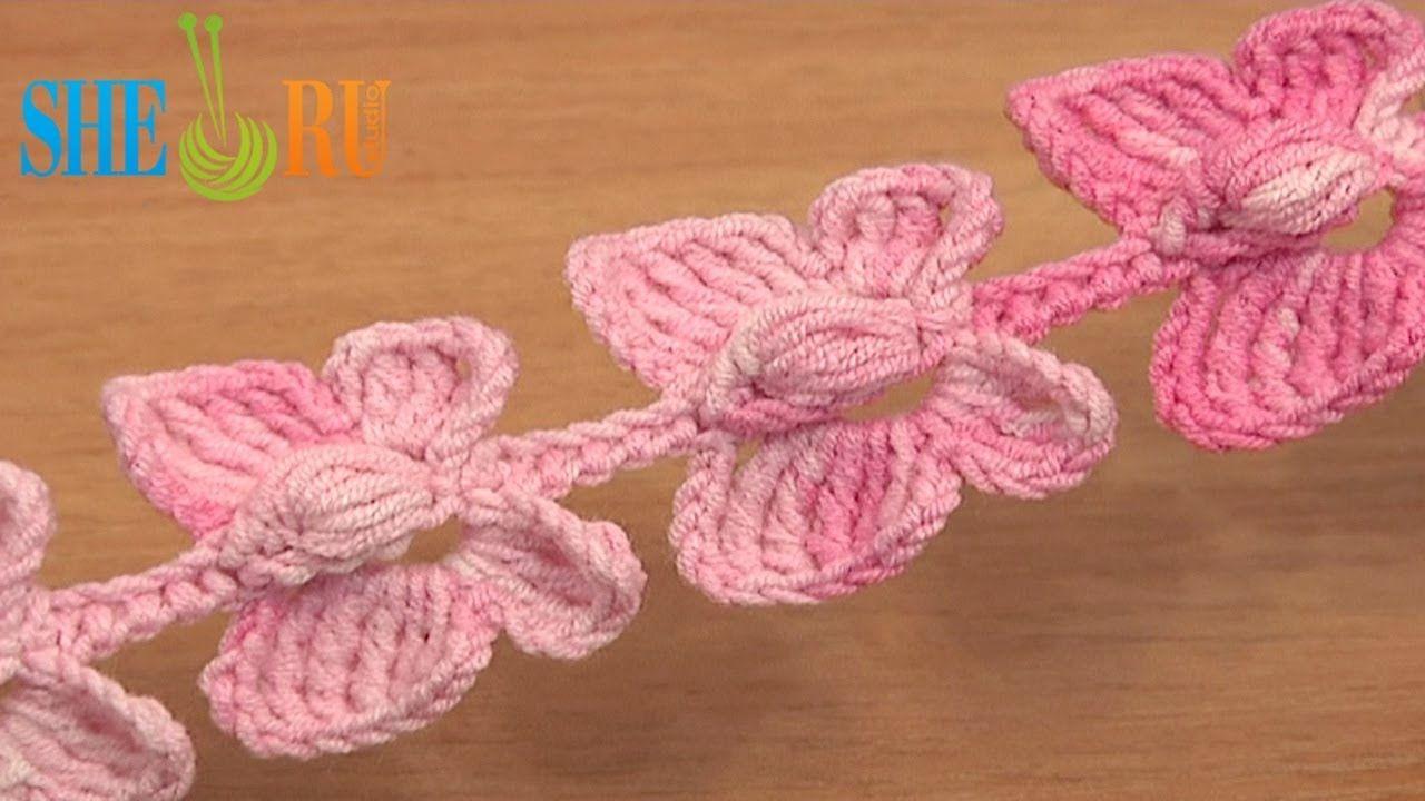 Crochet Butterfly Cord Tutorial 52 Crochet Butterflies Linha De