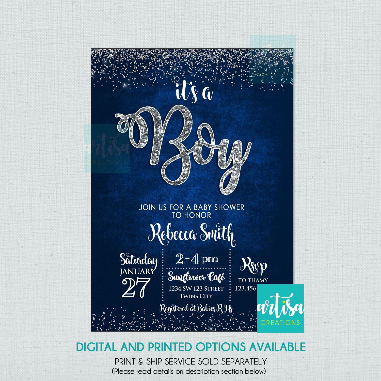 PRINTED It/'s a Boy Baby Shower Invitation Boy Baby Shower Boy Baby Shower Invitation Marble Baby Shower Invitation It/'s a Boy Invite