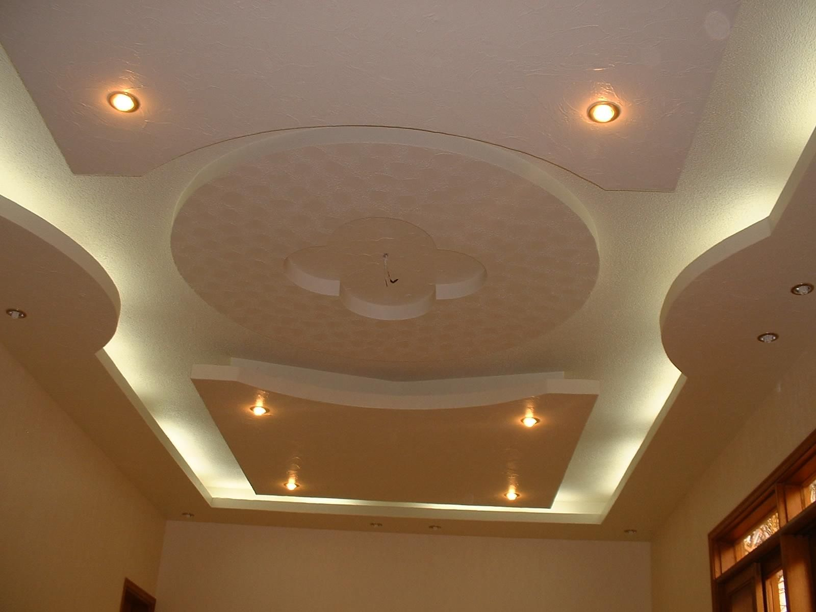 POP ceiling with ceiling fans .