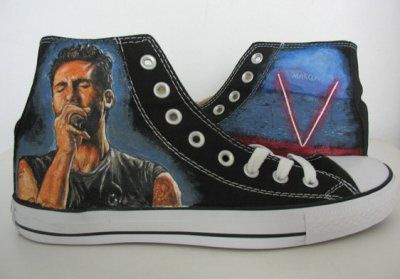 9997f45851057c maroon 5 Adam Levine hand painted shoes Canvas Shoes Birthday Gi ...