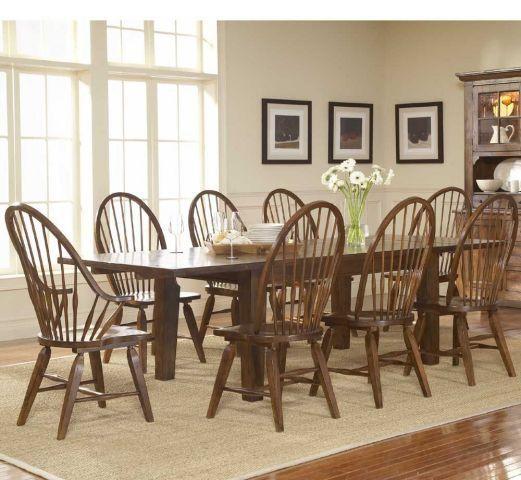 Attic Heirlooms Rustic Oak Finish Rectangular Leaf Leg Table Broyhill Furniture Oak Dining Sets Oak Dining Room