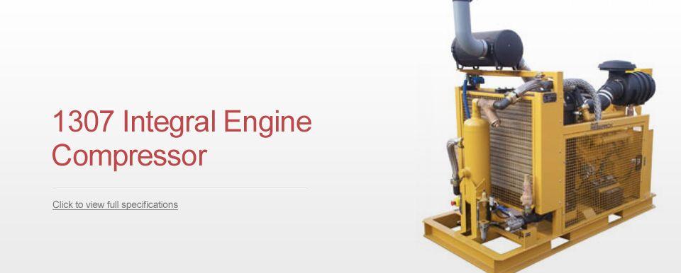 "Air Capacity ""IN"" at 350 psi, 1300 acfm ""OUT"" at 700 psi.  Engine 6V 92 Detroit,  3 Cylinder Engine  3 Cylinder Compressor"