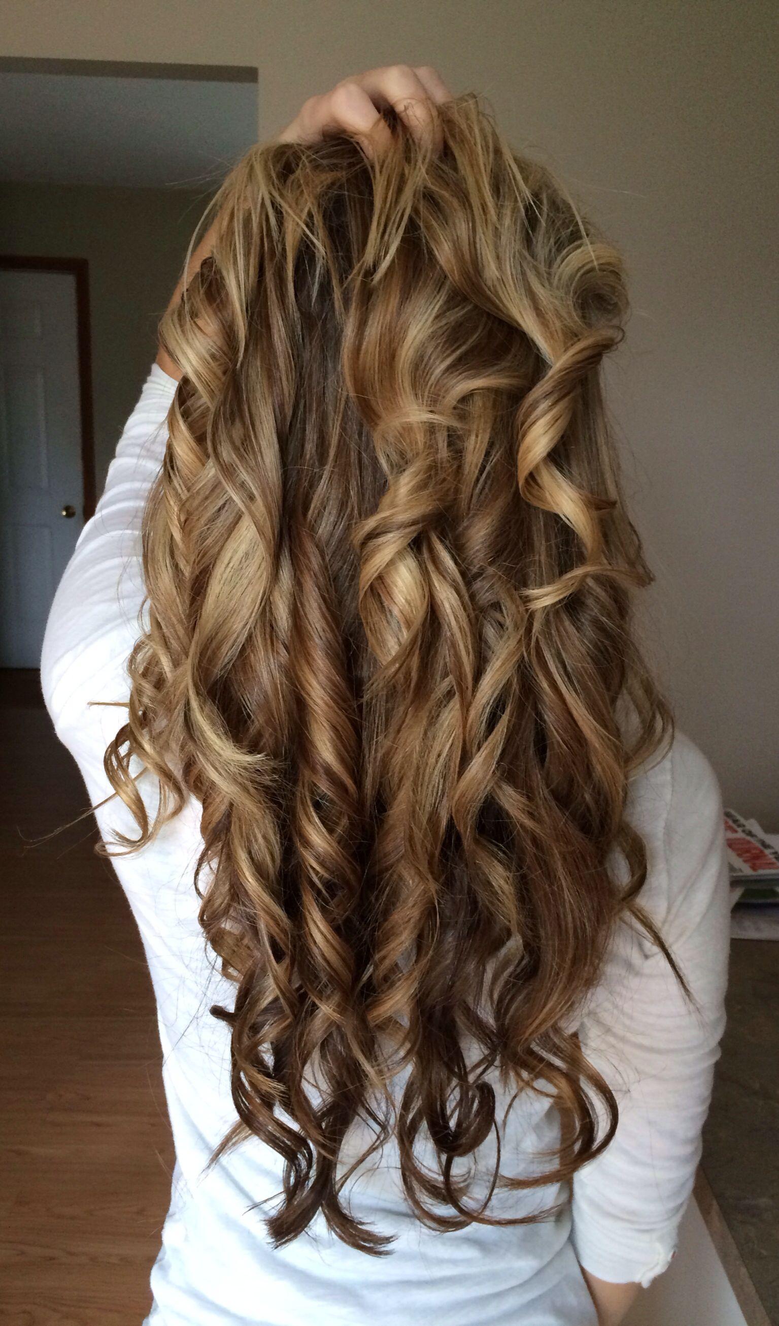 Long flat iron curls. | Hairr | Hair styles, Hair, Long ...