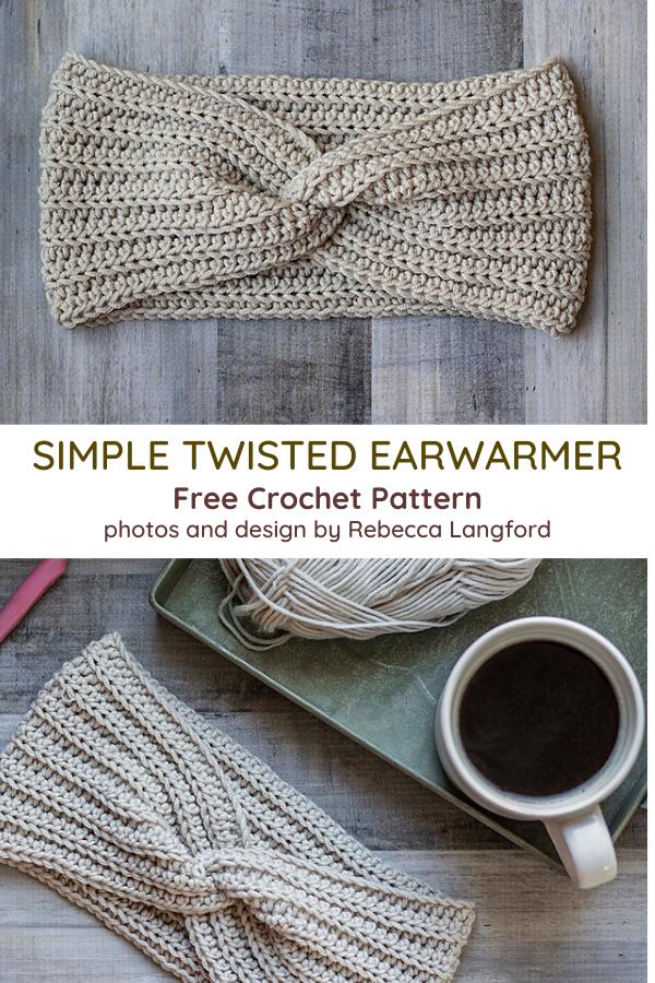 Twisted Ear Warmer Headband Crochet Pattern