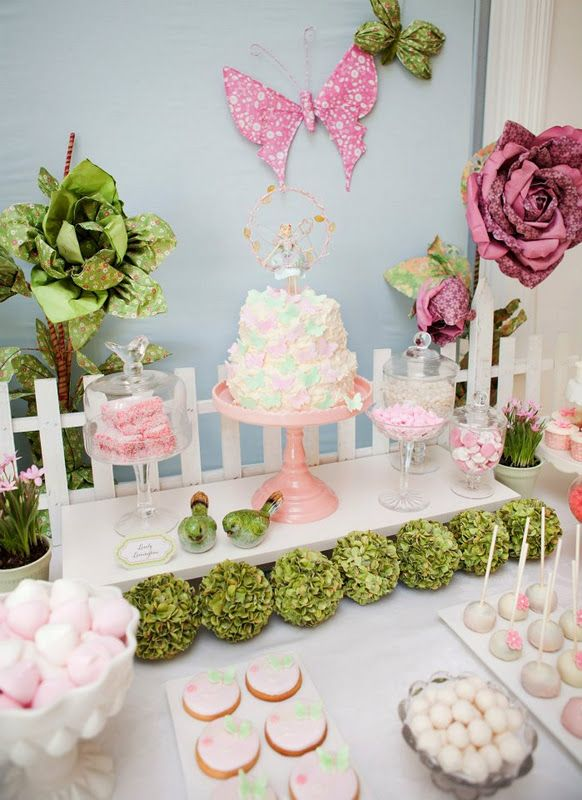 Love this elegant decor Would be great for a baby shower or for