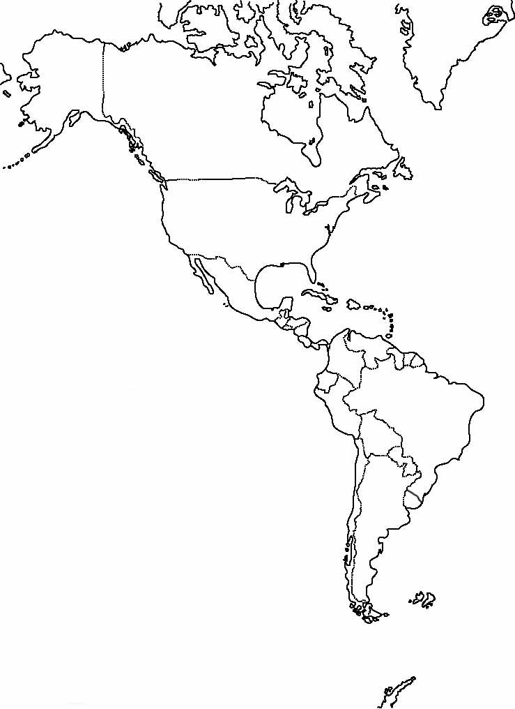 Mapa America Politico Mudo.Pin En Olhos