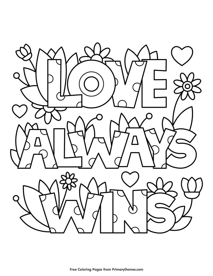 liebe gewinnt immer malvorlagen • kostenlos druckbares