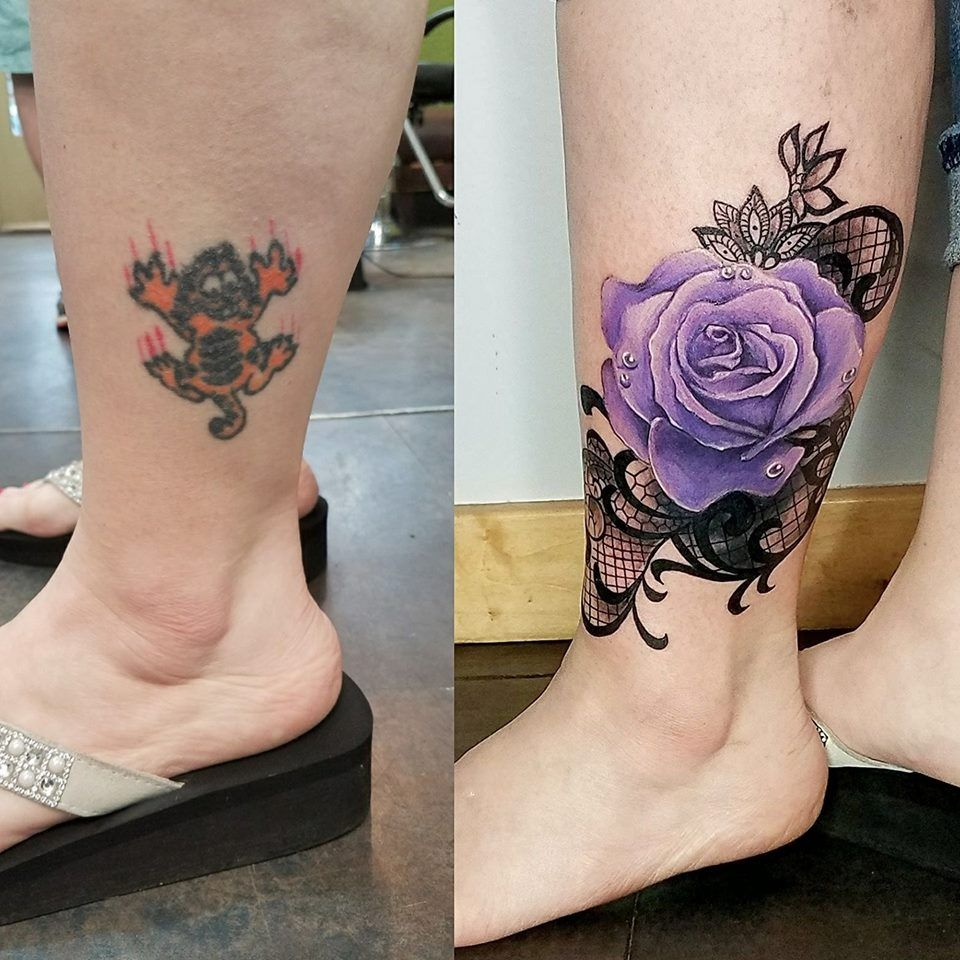 Rose Coverup Tattoo By Kelsey Rogers Forearm Cover Up Tattoos Cover Up Tattoos For Women Tattoos For Women