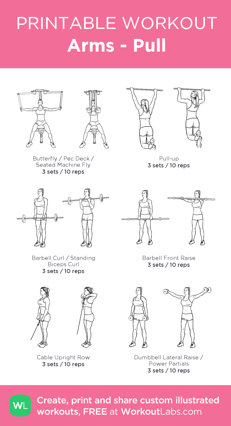 arms pull my visual workout created at workoutlabs com click