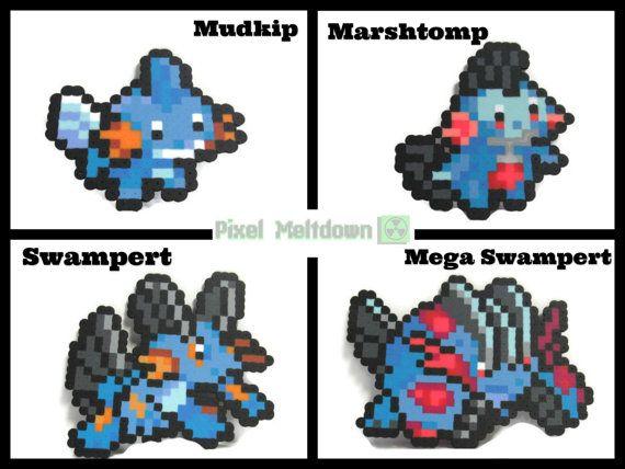 Mega Swampert Pixel Art
