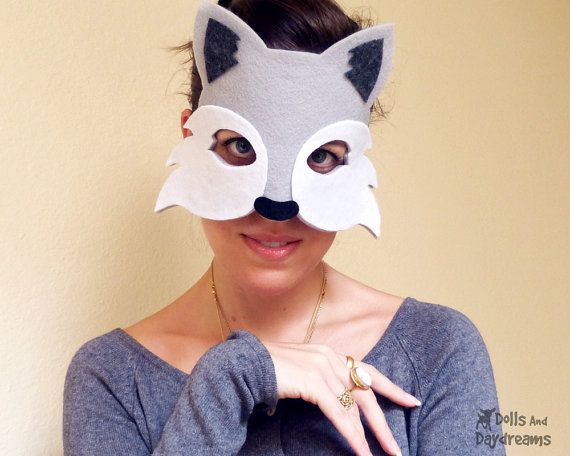 Wolf Mask Tail Costume PDF Sewing Pattern DIY Dressup Pretend Play ...