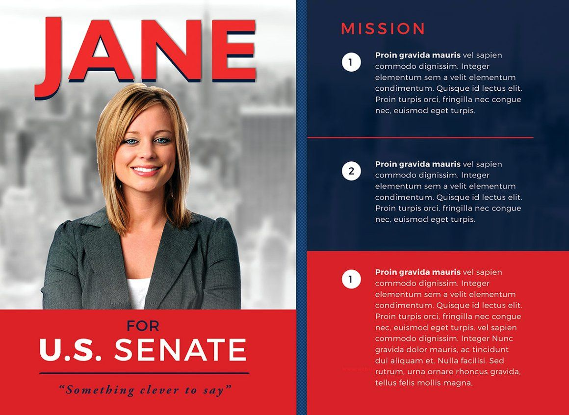 Political Flyer Template 3 - Flyers | Campaign Ideas | Pinterest