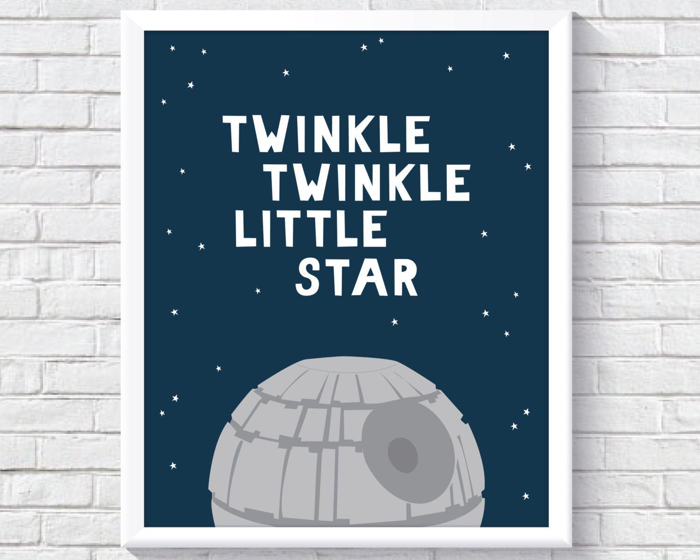 Nursery Wall Art, Star Wars Nursery Decor, Star Wars ...