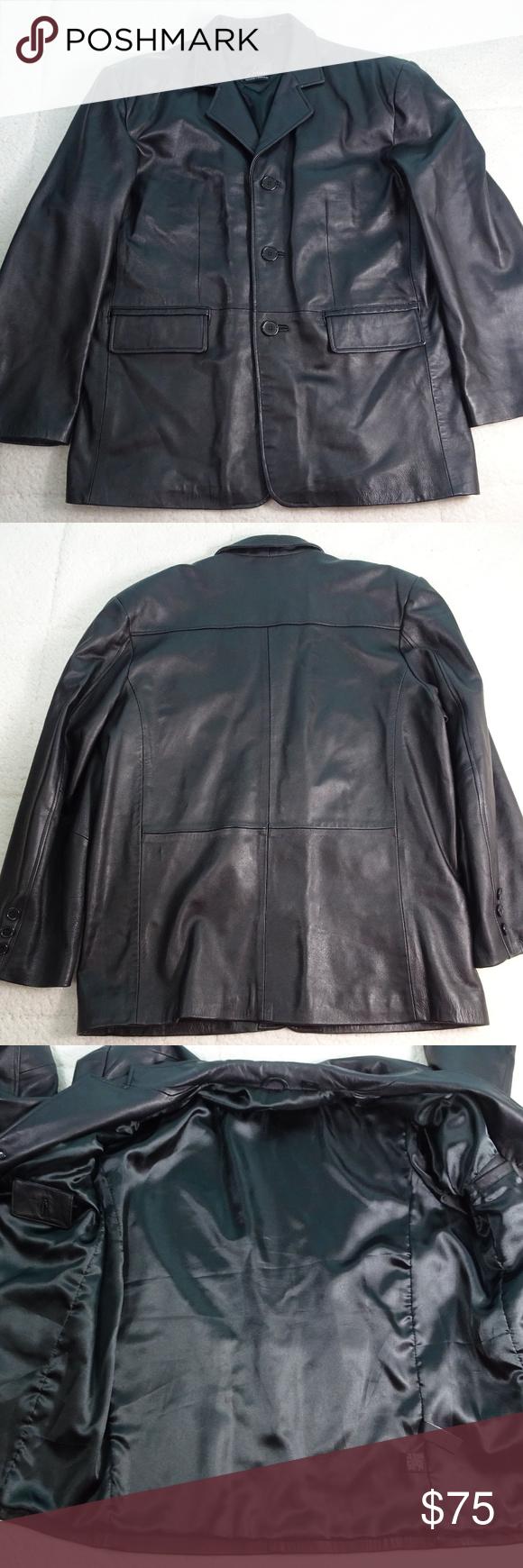 J Ferrer Lambskin Leather Jacket Size Large Euc Leather Jacket Lambskin Leather Lambskin Leather Jacket