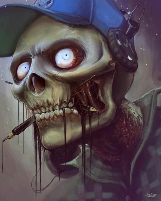 Dark art Cool Skeleton  Dark and Creepy Art  Pinterest  Dark