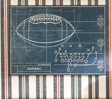 I love the sports blueprint art football on potterybarnkids i love the sports blueprint art football on potterybarnkids malvernweather Choice Image