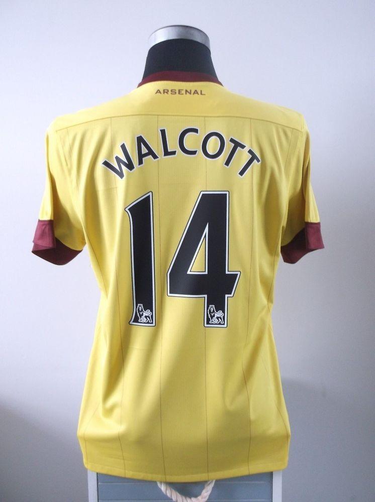 ed22c83e7d8 Theo WALCOTT  14 Arsenal Away Football Shirt Jersey 2010 11 (M ...