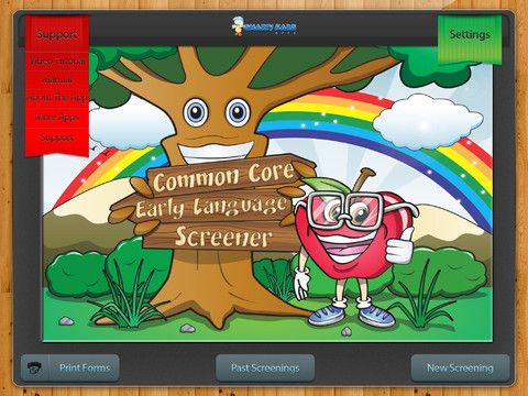 Common Core Early Language Screener Special Needs App