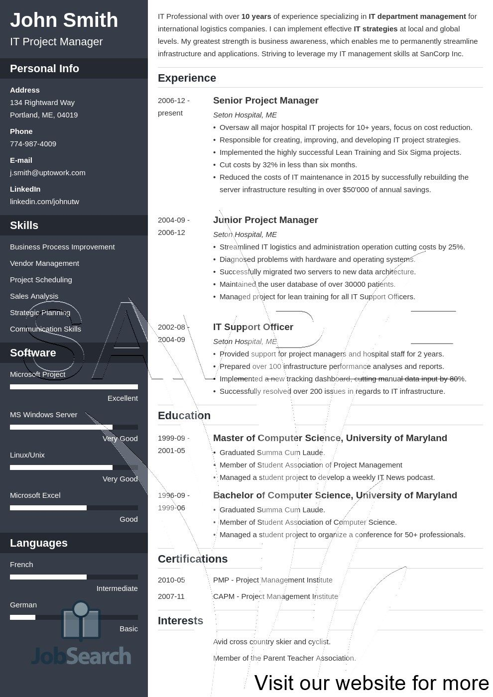 resume template, resume template professional, resume
