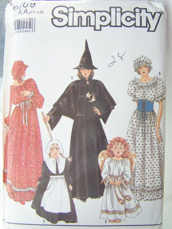 Misses\' Vintage Historic Costume Sewing Pattern Simplicity 9809 ...