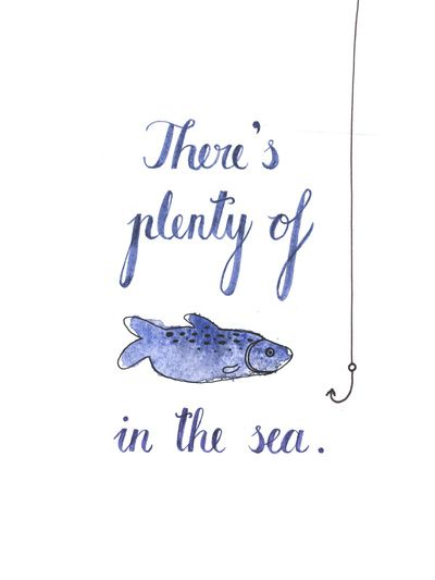 THERE'S PLENTY OF FISH IN THE SEA Stretched Canvas by Zsófia Mihály