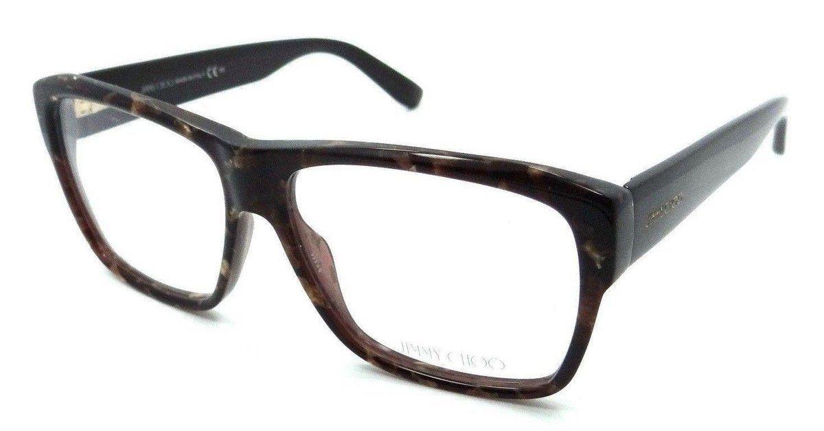 6ecc00b5e09e Jimmy Choo Rx Eyeglasses Frames JC 116 W03 56-14-140 Brown Spotted Made in  Italy