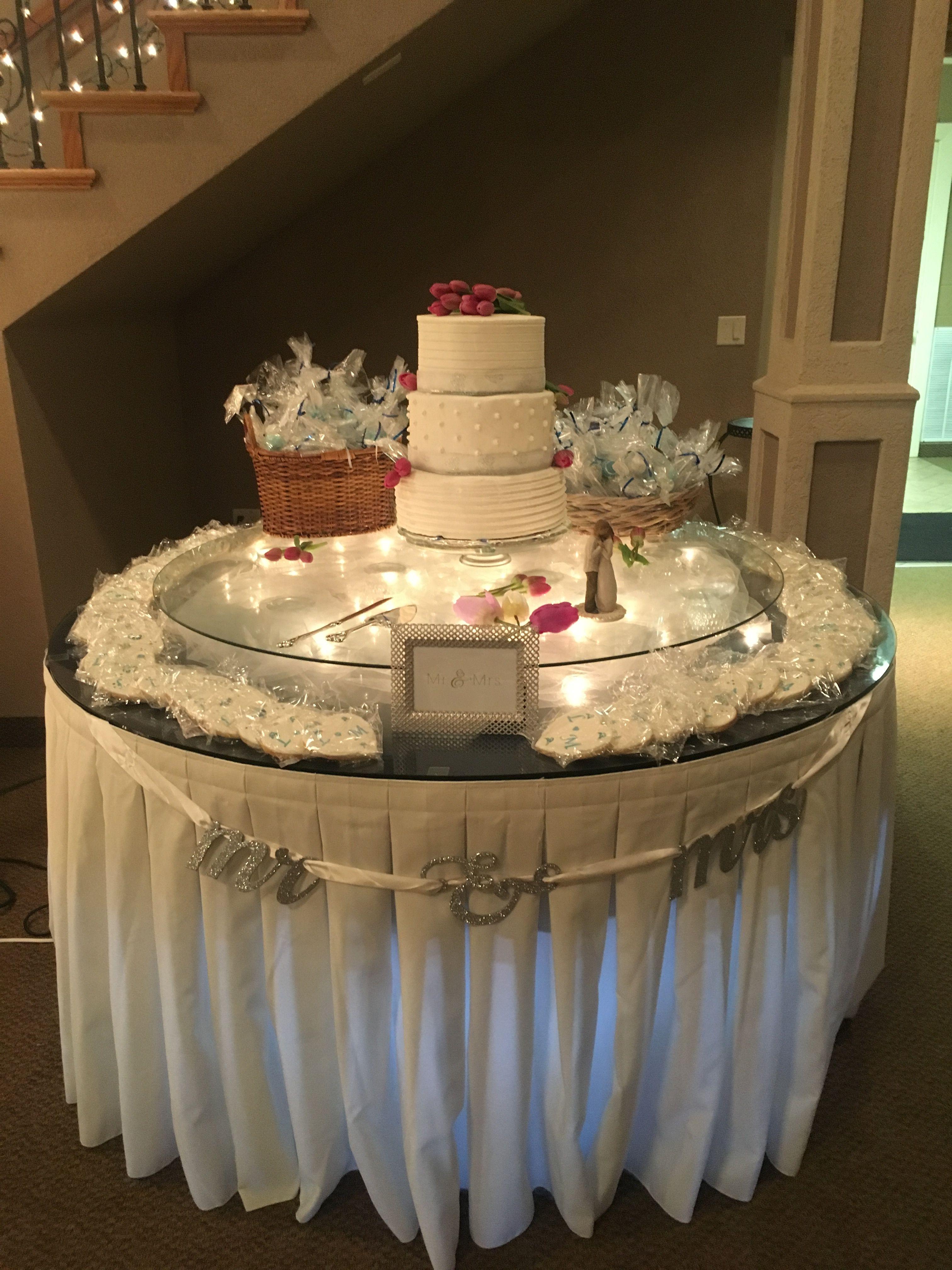 Wedding cake, cookies, pops Cake