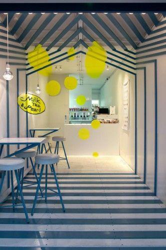 Bubble Tea Shop Interior Design Inside Cargo Container Bubble
